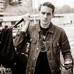 G-Eazy stuntin in a denim jacket