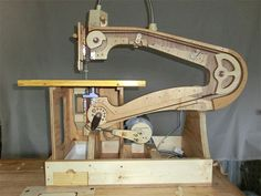 Japanese maker Mikiono built this scroll saw entirely from wood, with relatively few metal components. Check out the video to see - and hear - the machine in action!
