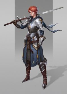 wearepaladin: Elf Knight by Anna Kharitonova