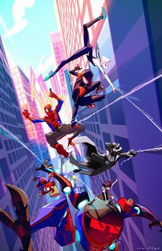 Spider-Man into the spider verse awesome wallpaper : spiderman Marvel Avengers, Marvel Fan, Marvel Dc Comics, Marvel Heroes, Captain Marvel, Marshmello Wallpapers, Spiderman Kunst, Spider Gwen, Spider Man Comic