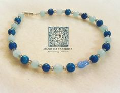 Little fish! Lapiz Lazuli love on a precious anklet. Ready to help you swim through summer!! DM for info