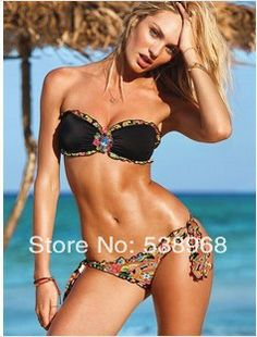 692d7a7884755 Free Shipping new 2014 Bikinis discount Swimwear floral swimsuit fashion  women floral Crystal swimwear Fashion women