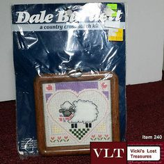 "County Cross Stitch Kit - Lamb - Vintage 1987 - 4"" Dale Burdett FAST SHIPPING"