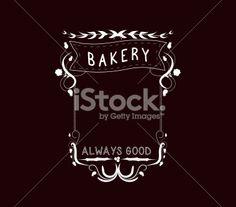 bakery Vintage frames and Floral Ornaments - Illustration