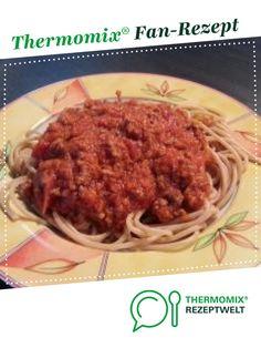 Spaghetti Bolognese von Stefanieee. Ein Thermomix ® Rezept aus der Kategorie Hauptgerichte mit Fleisch auf www.rezeptwelt.de, der Thermomix ® Community.