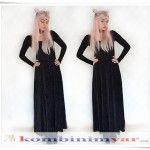 Long Velvet Dress/ Uzun Kadife Elbise www.1kombinimvar.com  #elbise #dress #velvet #kadife #moda #fashion