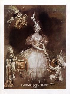 Lucien Lelong (Perfumes) 1947 Lila de Nobili