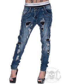 new concept 5ba5b ba14c Scratched Baggy Jeans