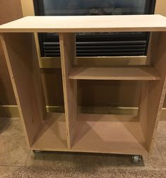 Diy Mini Fridge Cabinet Plans Perfect For A Dorm Room Or A