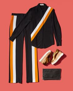 If getting dressed for you is a combo of intrepidity and frivolity, this head-to-toe Stella McCartney look is for you—and for the street style snappers. The best part about this sleek and sporty outfit is that you'll be the most comfortable person dashing between shows.