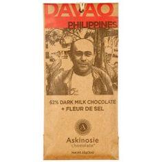 Askinosie Chocolate bean to bar chocolate makers 62% Dark Milk Chocolate + Fleur de Sel Sea Salt
