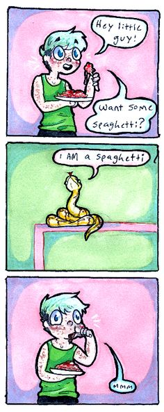Tagged with Aww; Shared by Snake Comics Cute Reptiles, Reptiles And Amphibians, Animals And Pets, Funny Animals, Cute Animals, Pretty Animals, Cute Comics, Funny Comics, Snake Art