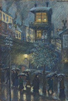 Hans Baluschek (1870-1935) - Rain, 1917
