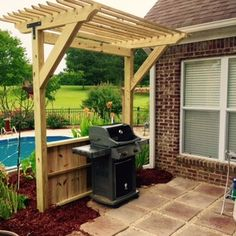 Check out this project on RYOBI Nation - I took a corner of a flower bed and created a grilling area. I wanted to add a shade structure over the grill itself.