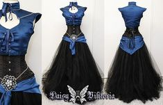 Black Sapphire Elf Princess Gown by DaisyViktoria on DeviantArt Pretty Dresses, Beautiful Dresses, Elf Kostüm, Fairytale Gown, Fantasy Gowns, Lolita, Cosplay Outfits, Character Outfits, Looks Cool