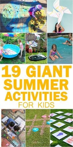 Looking for boredom busting ideas for your kids? Check out this list of GIANT outdoor summer activities! From water blobs, to huge bubbles to crafts! Summer Art Activities, Outdoor Activities For Kids, Activity Games, Toddler Activities, Learning Activities, Toddler Games, Bubble Games For Kids, Family Activities, Summer Arts And Crafts