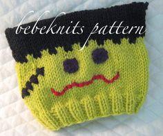 1f7930c1b58 Bebeknits Little Frankie Baby Hat Knitting Pattern. Etsy. Knit Headband  Pattern
