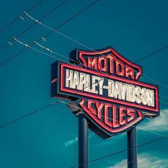 High Quality Canvas Harley Davidson Sign Arizona/Office Decor/oversized Art  California/large Art/
