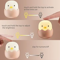 Silicon Egg-shell Night Light from China manufacturer