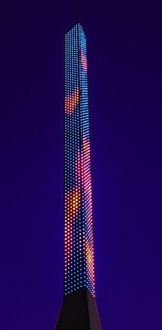 Peter Freeman's 'Travelling Light', Junction 21, M5, near Weston-Super-Mare, UK