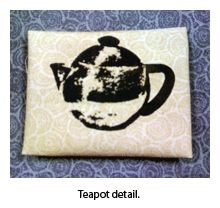 Screen print teapot by Cate and Nick Prato