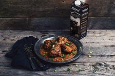 Pilons de poulet mexicain avec du lait Natrel au chocolat noir | Natrel