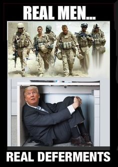 Trump is the bravest man under a desk I have ever seen.