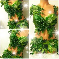 Deluxe Poison Ivy Costume by TheLoveShackk on Etsy Rave Costumes, Dress Up Costumes, Cool Costumes, Cosplay Costumes, Costume Ideas, Poison Ivy Costume Diy, Poison Ivy Cosplay, Halloween Kostüm, Halloween Costumes
