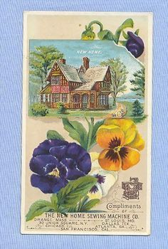 sewing machine trade card