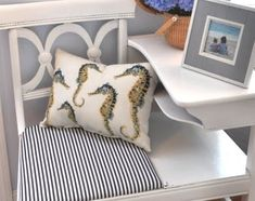 #DIY: old telephone desk #makeover, Completely Coastal Decor Ideas