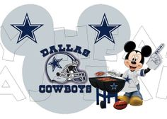 Printable DIY Mickey Mouse Dallas Cowboys NFL by MyHeartHasEars, $5.00