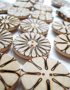julia church's pyrography jewelry