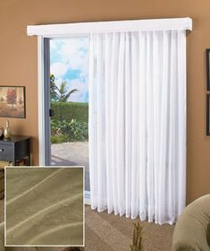 Thermal drapes for sliding glass doors for the home pinterest update any rooms patio door or large window with the soft look of the lose the louvers curtain the sheer voile curtain features a permanent crinkle planetlyrics Choice Image