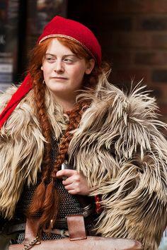 Beautiful Viking Woman at the 'Jorvik Viking Festival' 2012, by alh1.
