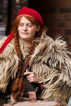 Beautiful Viking Woman at the 'Jorvik Viking Festival' 2012, by alh1.
