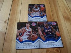 Chauncey Billups Josh Smith Kyle Singler 2013 14 Prestige Pistons 3 Card Lot | eBay
