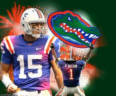 2006 National Champs...Tim Tebow and Reggie Nelson. Love them Gators!!