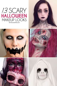 13 scary halloween makeup looks that give us nightmares