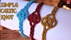 Macrame simple celtic knot bracelet tutorial - Easy and elegant jewelry