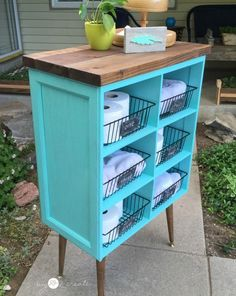 How to make a cubby shelf out of old cabinet doors