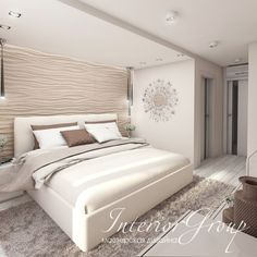 "Проект: Квартира ул. 50 лет Октября — Дизайн студия ""InteriorGroup"" — MyHome.ru Dream Bedroom, Home Decor Bedroom, Bedroom Wall, Bedroom Furniture, Master Bedroom, Bedroom Layouts, Bedroom Styles, Modern Bedroom Design, Interior Design Living Room"