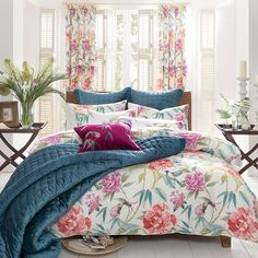 Nice mix of colors. Dorma Tropical Cordelia Bed Linen Collection | Dunelm