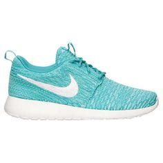 f0133e7c9662 Women s Nike Roshe Run Flyknit Casual Shoes Sport Turq White Hyper Turq