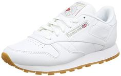 Reebok Damen Classic Leather Sneakers, Weiß (Int-