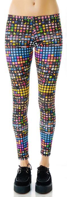 Zara Terez Emoji Leggings | Dolls Kill Small $60 http://www.dollskill.com/zara-terez-emoji-leggings.html