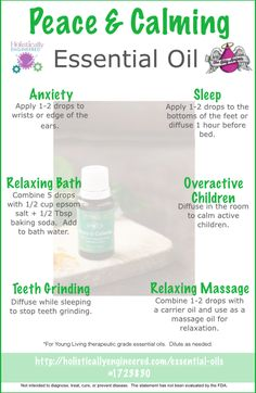 Ways To Use Peace & Calming Essential Oil Blend