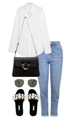 """""""Untitled #3533"""" by theeuropeancloset ❤ liked on Polyvore featuring Topshop, Jil Sander, Miu Miu, J.W. Anderson and Ray-Ban"""