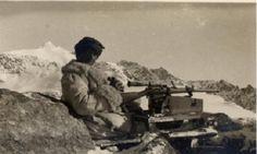 Italian sniper at the Italian Front, World War I.