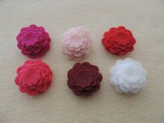 48 Die cut Felt Tiny Flowers Variety or a by JustFeltSupplies