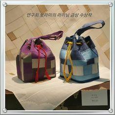 Mosi Jogakbo concept Pouchs,Artist - Sujin Lee (hand-sewing ) (쌈지사랑 규방공예 연구소…